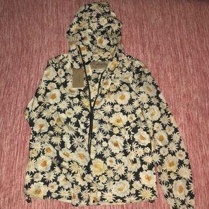 Burberry Fullerton Daisy Print Hooded Jacket